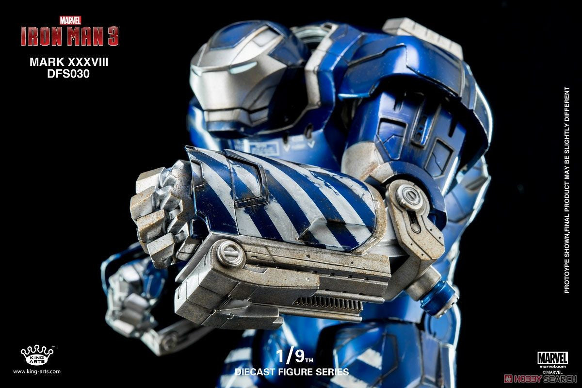King Arts - DFS030 - Iron Man 3 - 1/9th Scale Iron Man Mark XXXVIII (38) - Marvelous Toys - 11