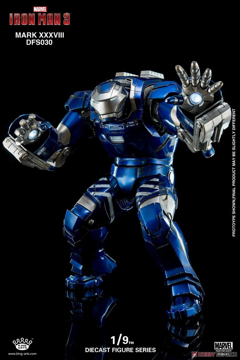King Arts - DFS030 - Iron Man 3 - 1/9th Scale Iron Man Mark XXXVIII (38) - Marvelous Toys - 4