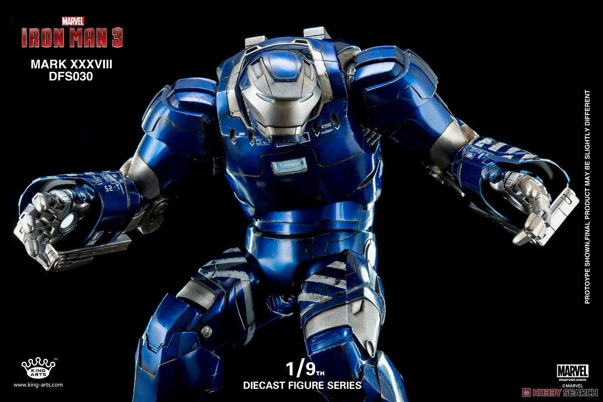 King Arts - DFS030 - Iron Man 3 - 1/9th Scale Iron Man Mark XXXVIII (38) - Marvelous Toys - 7