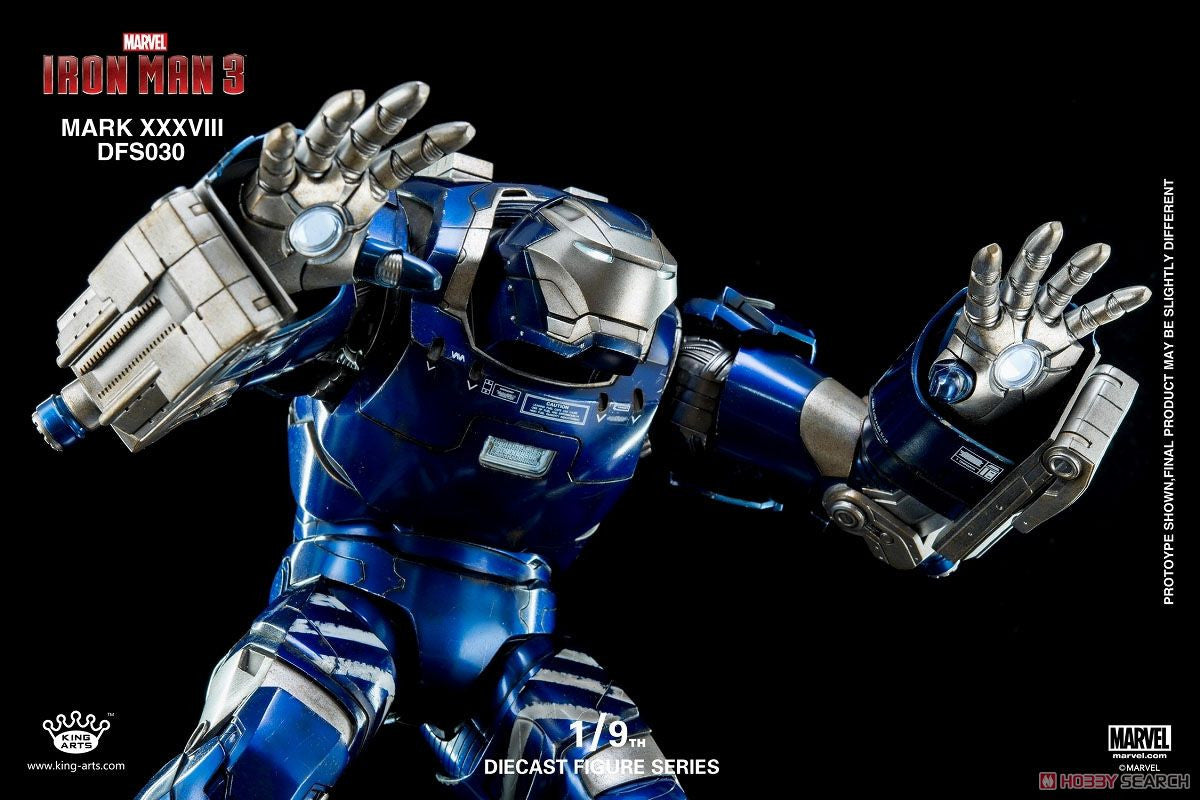 King Arts - DFS030 - Iron Man 3 - 1/9th Scale Iron Man Mark XXXVIII (38) - Marvelous Toys - 8