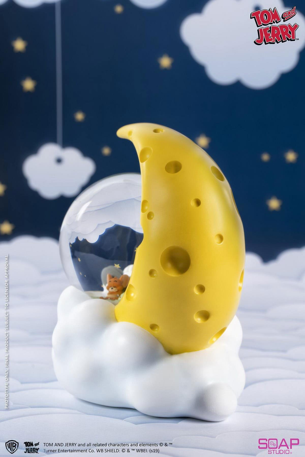 Soap Studio - Tom and Jerry - Cheese Moon Snow Globe (Reissue)