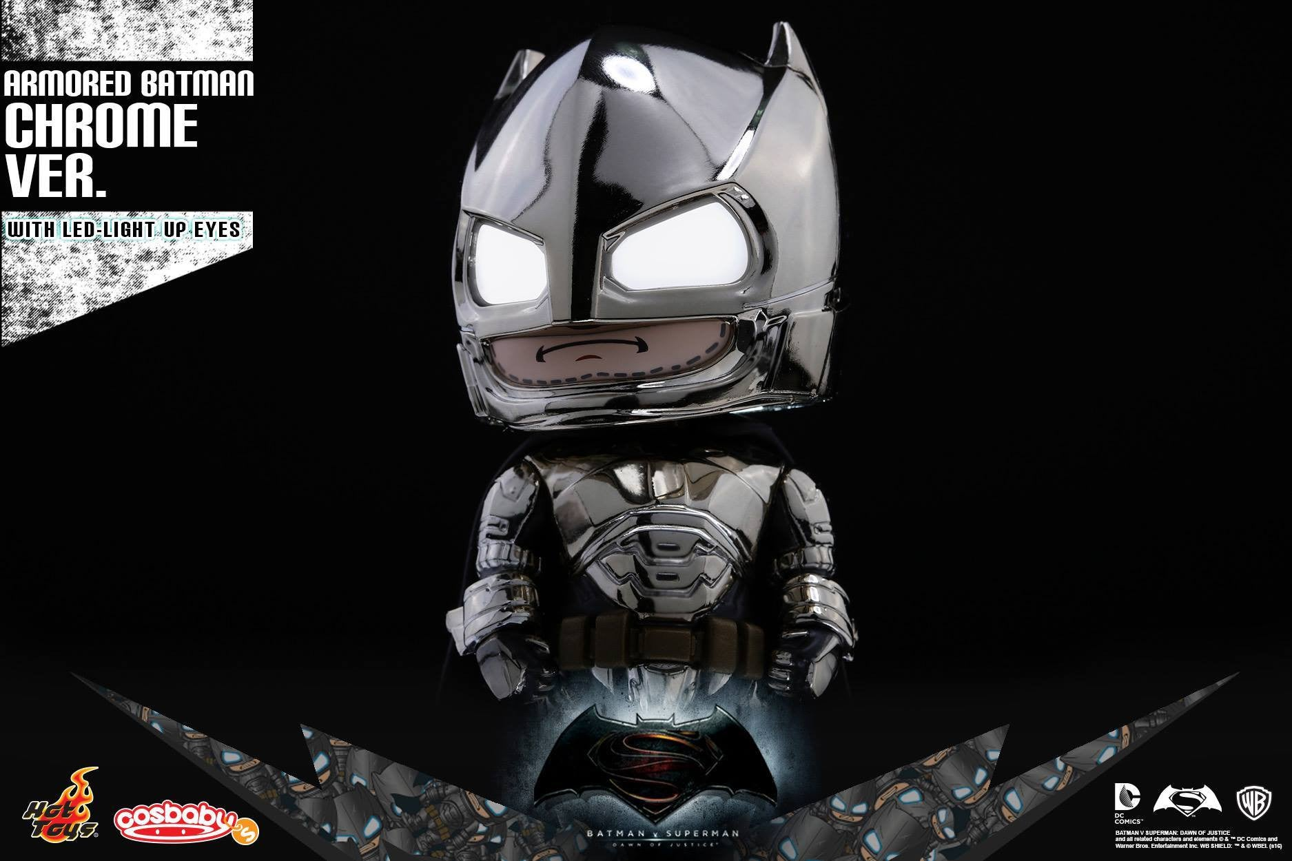Hot Toys - COSB229-231 - Batman v Superman: Dawn of Justice - Armored Batman (Special Color Versions) Cosbaby (S) Bundle Set - Marvelous Toys - 3