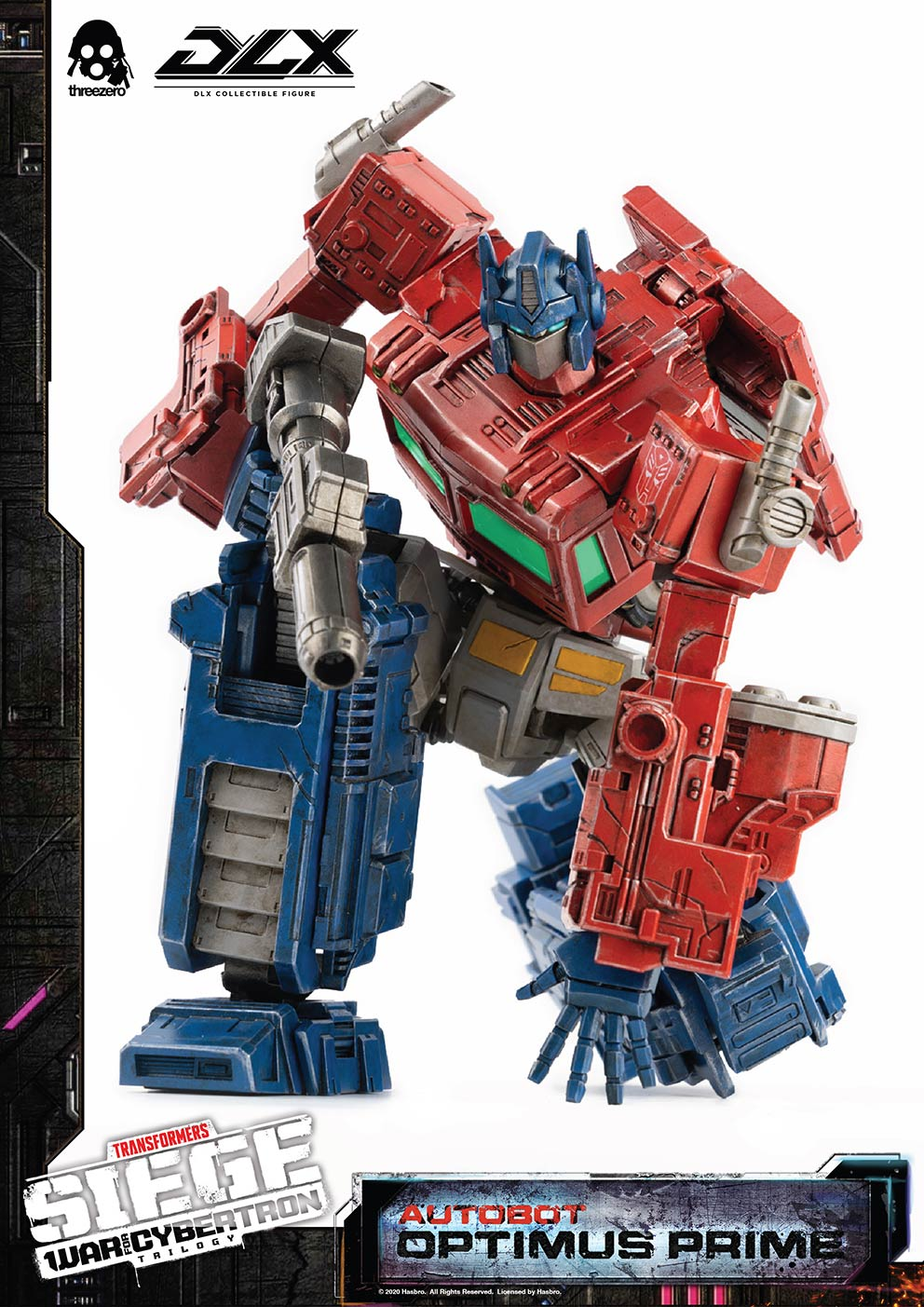 ThreeZero x Hasbro - Transformers: War for Cybertron Trilogy - Optimus Prime (DLX Scale)