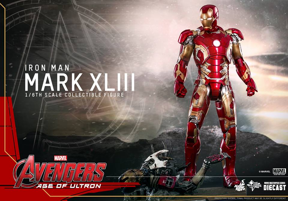 Hot Toys - MMS278D09 - The Avengers: Age of Ultron - Iron Man Mark XLIII (Reissue)
