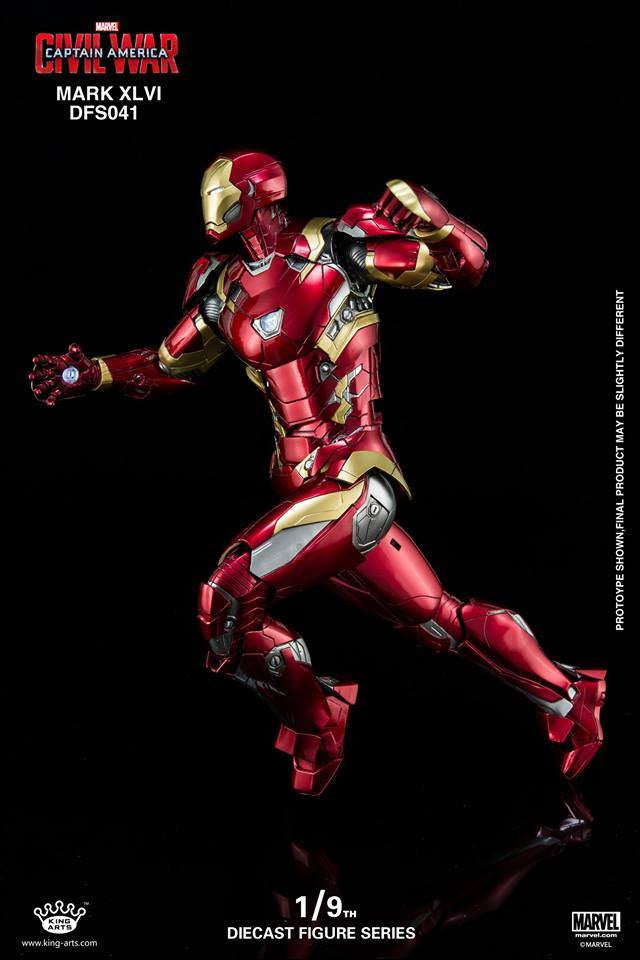 King Arts - DFS041 - Captain America: Civil War - Iron Man Mark XLVI (46) - Marvelous Toys - 3