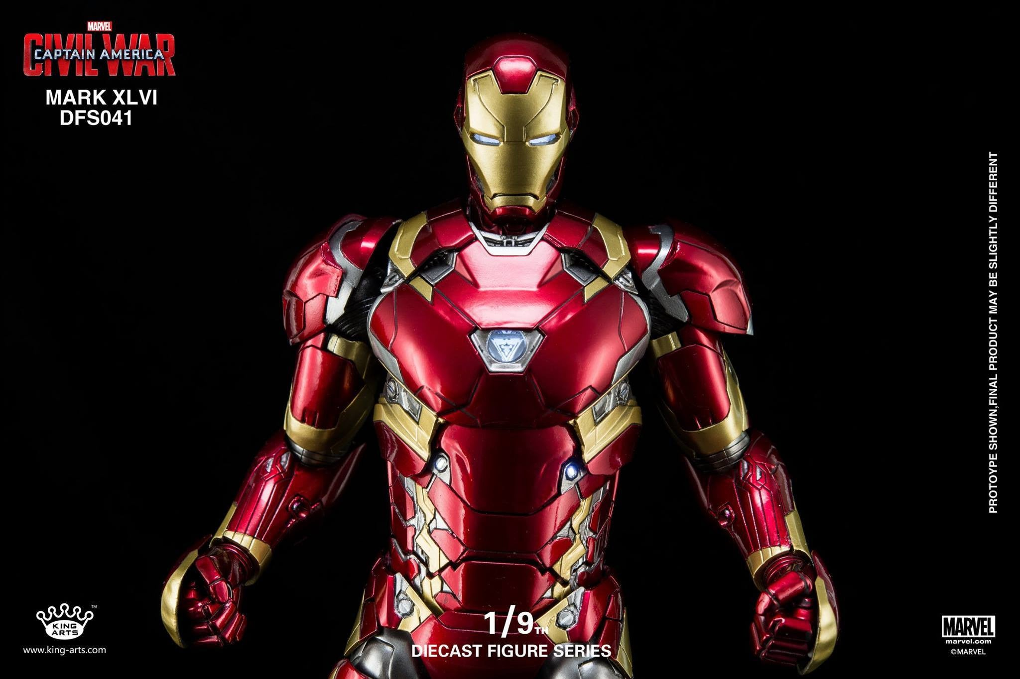King Arts - DFS041 - Captain America: Civil War - Iron Man Mark XLVI (46) - Marvelous Toys - 4