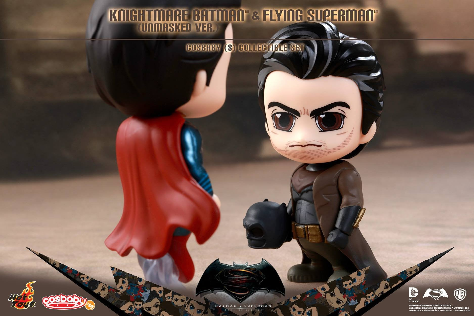 (IN STOCK) Hot Toys - COSB244 - Batman v Superman: Dawn of Justice - Knightmare Batman (Unmasked Version) and Flying Superman Cosbaby (S) Collectible Set - Marvelous Toys - 2
