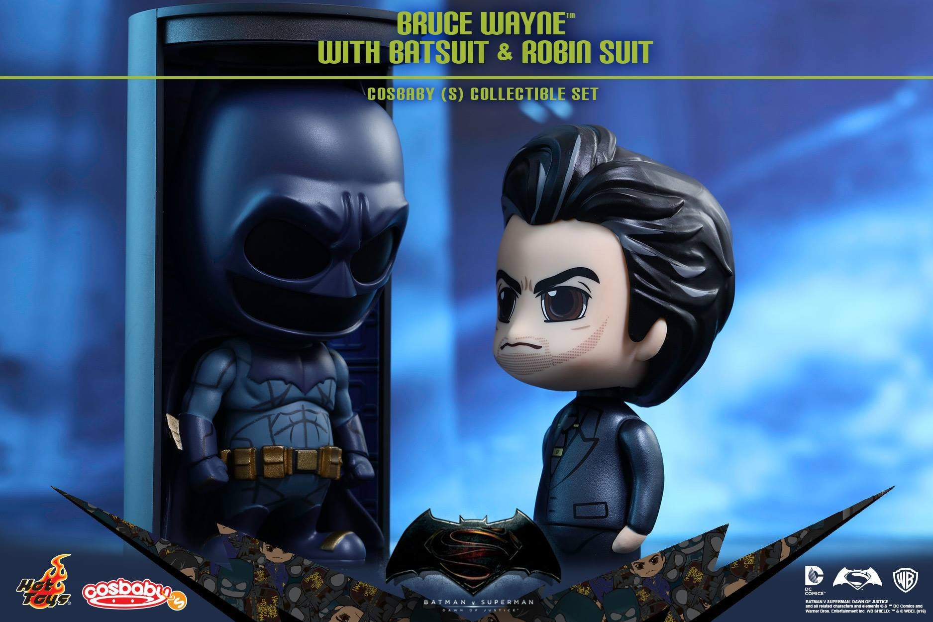 Hot Toys - COSB245 - Batman v Superman Dawn of Justice - Bruce Wayne with Batsuit and Robin Suit Cosbaby (S) Collectible Set - Marvelous Toys - 3