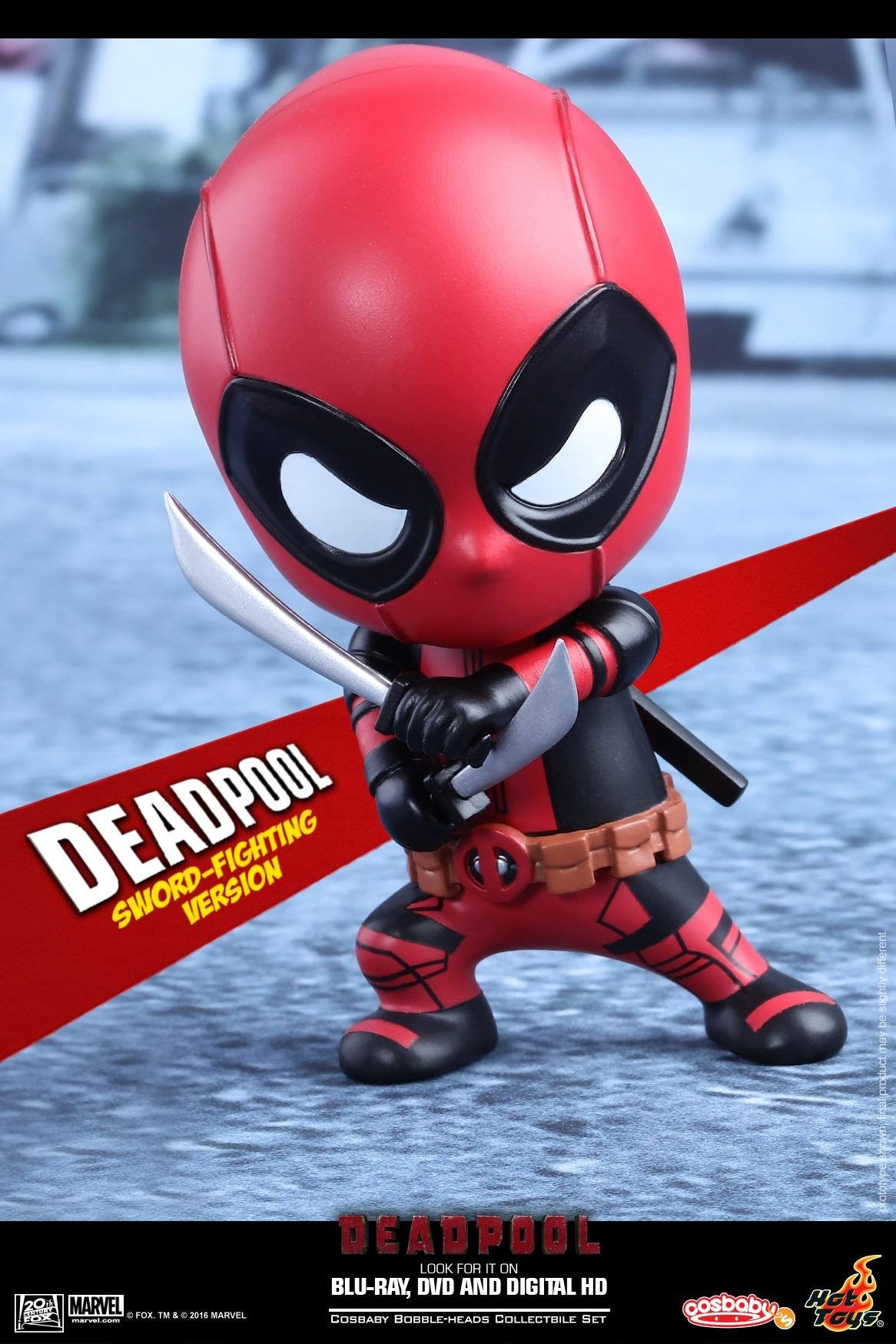 Hot Toys - COSB220 - Deadpool (Sword-Fighting Version) Cosbaby Bobble-Head - Marvelous Toys - 1