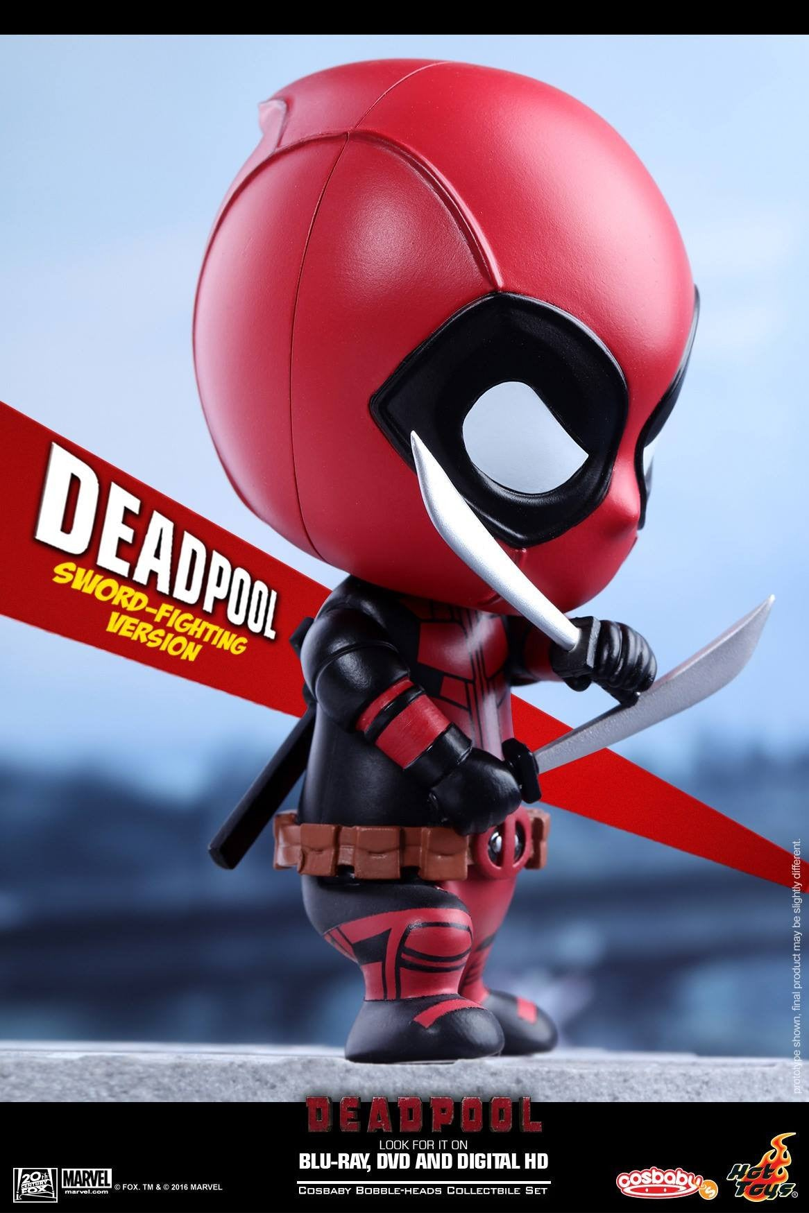 Hot Toys - COSB220 - Deadpool (Sword-Fighting Version) Cosbaby Bobble-Head - Marvelous Toys - 2