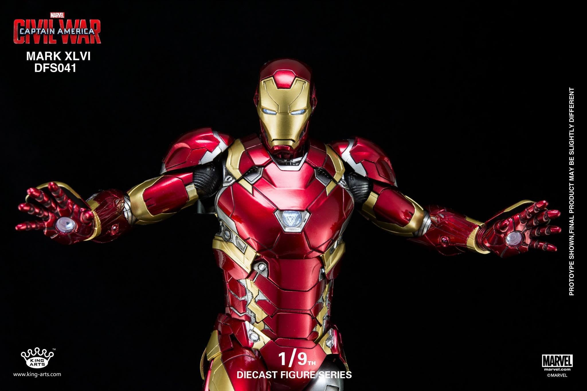 King Arts - DFS041 - Captain America: Civil War - Iron Man Mark XLVI (46) - Marvelous Toys - 12