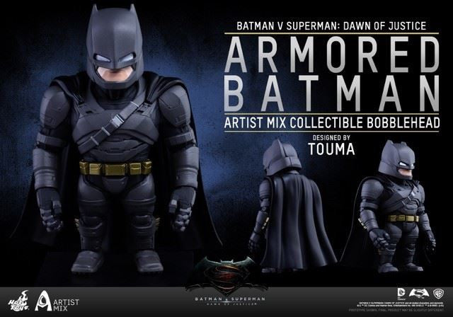 Hot Toys - AMC020 - Batman v Superman: Dawn of Justice - Armored Batman Artist Mix Collectible Bobble-Head Designed by TOUMA - Marvelous Toys - 2