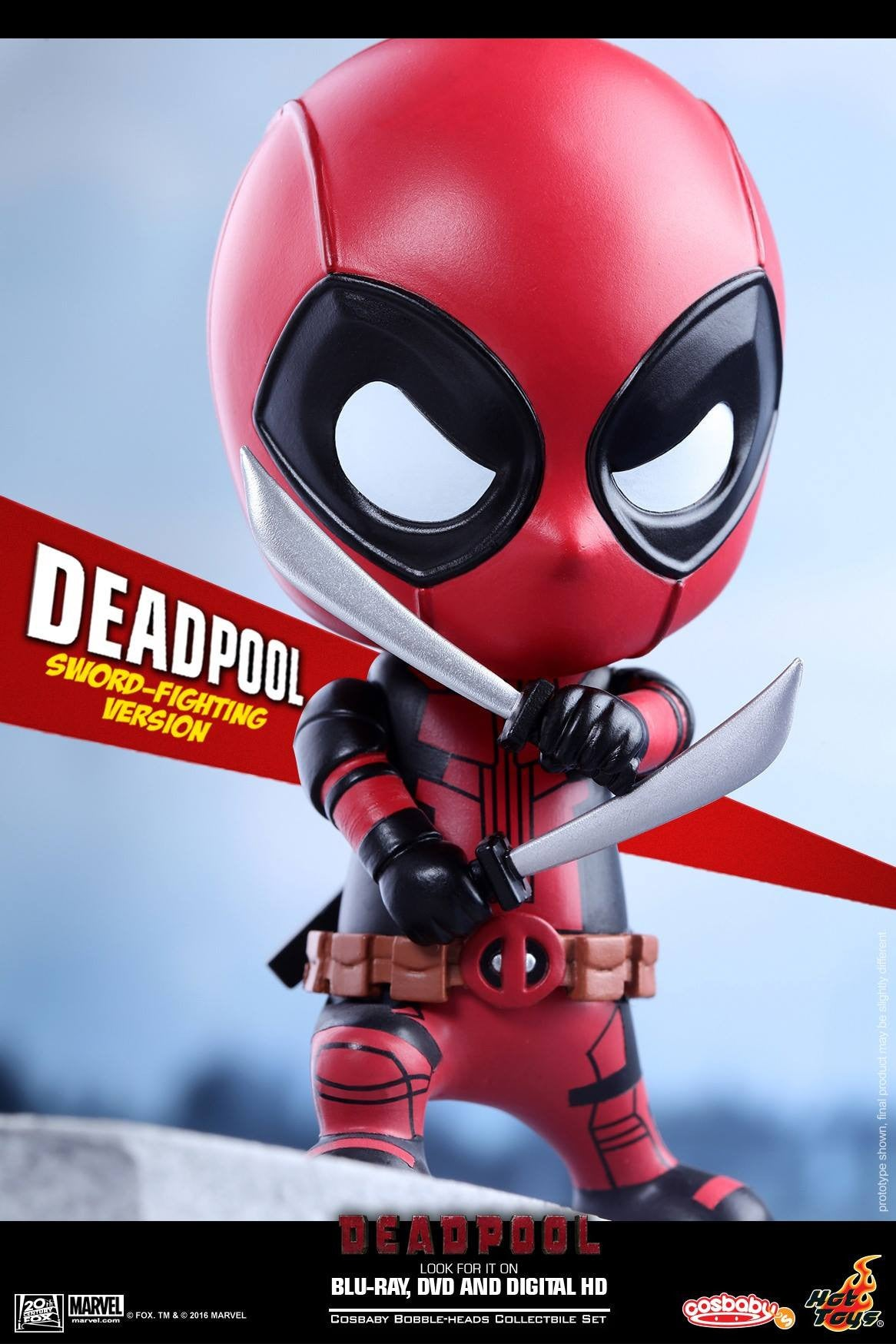 Hot Toys - COSB220 - Deadpool (Sword-Fighting Version) Cosbaby Bobble-Head - Marvelous Toys - 3