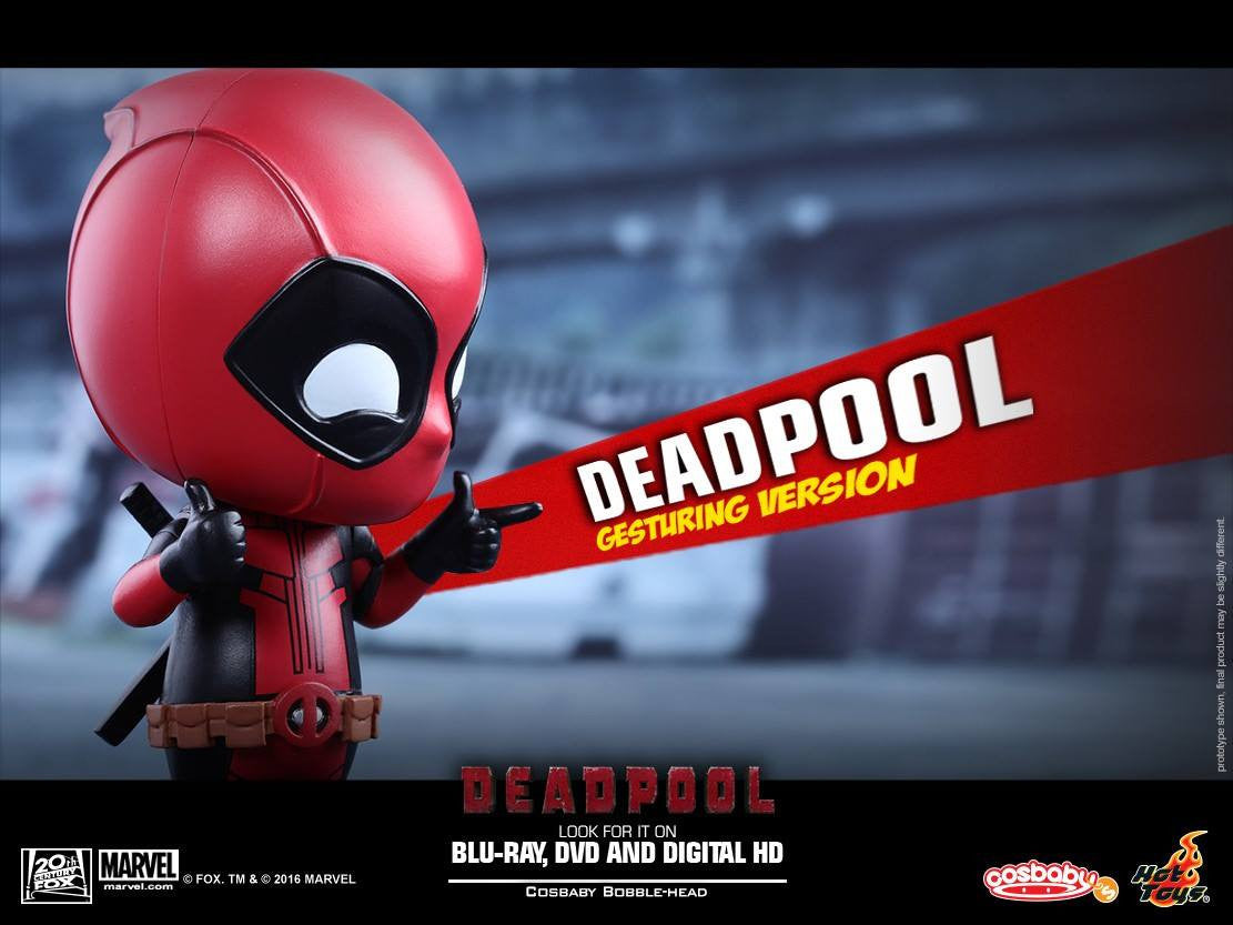 Hot Toys - COSB221 - Deadpool (Gesturing Version) Cosbaby Bobble-Head - Marvelous Toys - 5