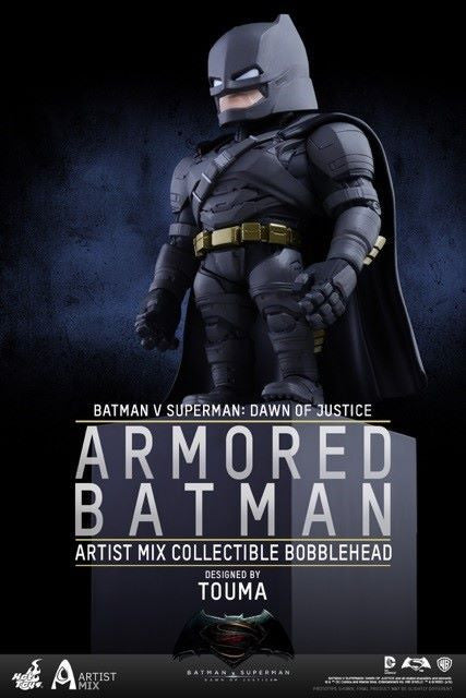 Hot Toys - AMC020 - Batman v Superman: Dawn of Justice - Armored Batman Artist Mix Collectible Bobble-Head Designed by TOUMA - Marvelous Toys - 1