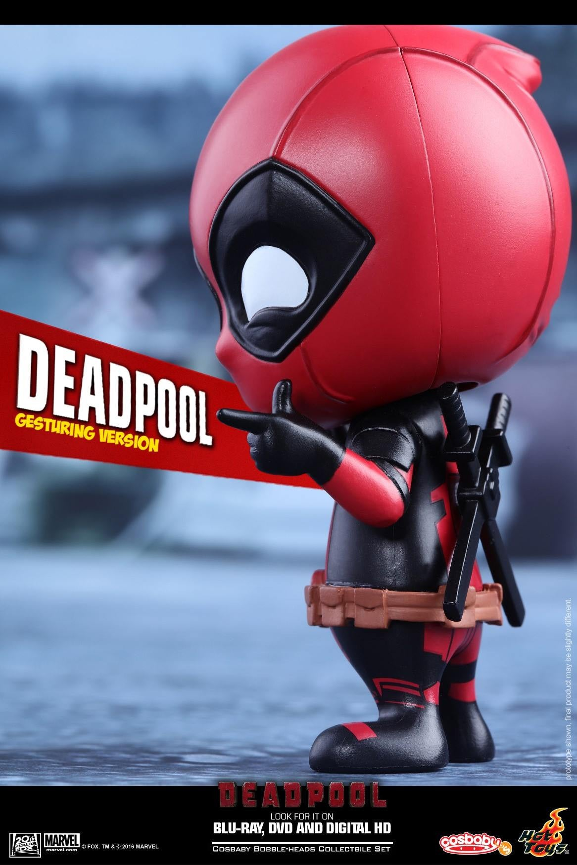 Hot Toys - COSB221 - Deadpool (Gesturing Version) Cosbaby Bobble-Head - Marvelous Toys - 3