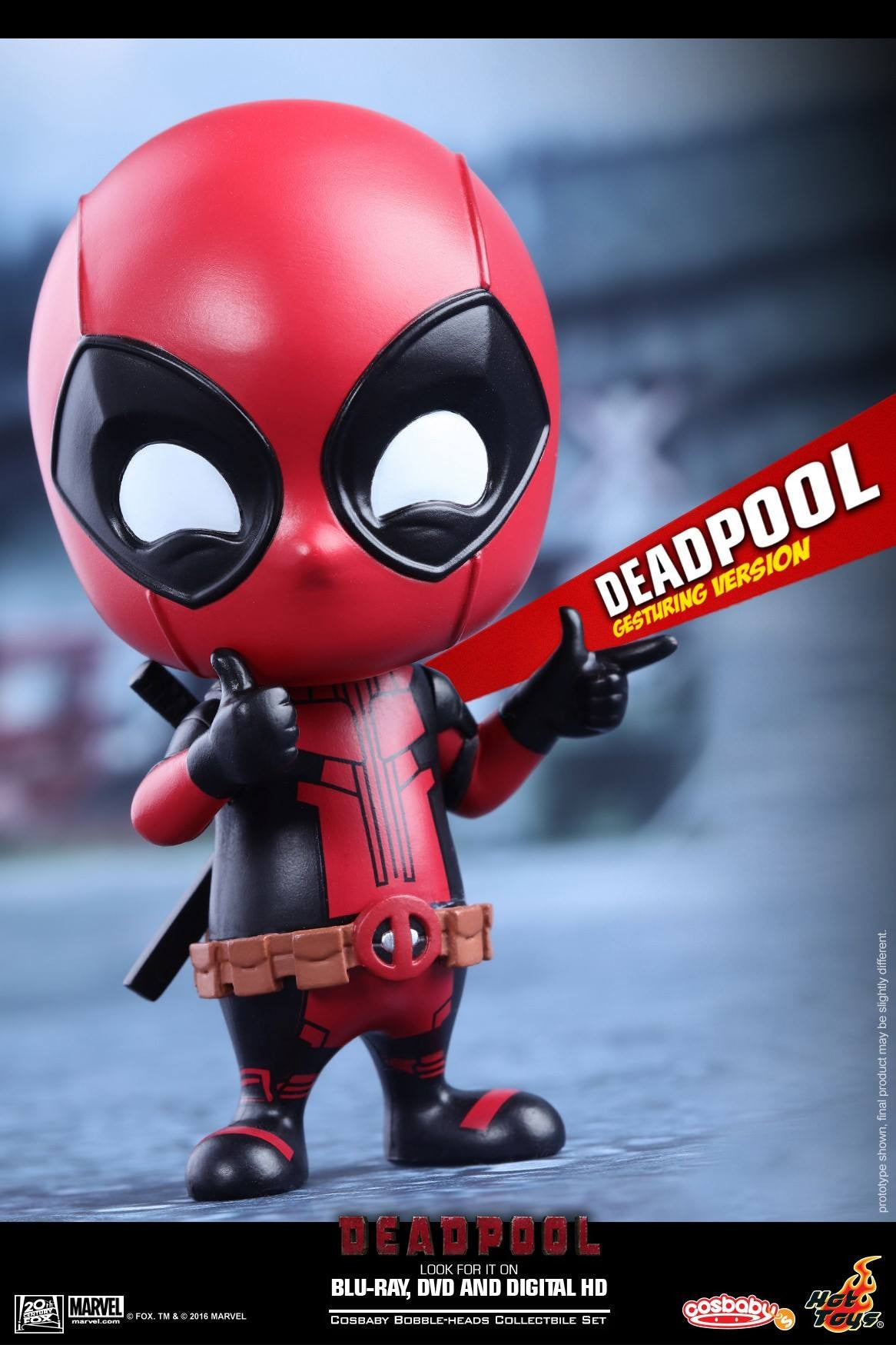 Hot Toys - COSB221 - Deadpool (Gesturing Version) Cosbaby Bobble-Head - Marvelous Toys - 1