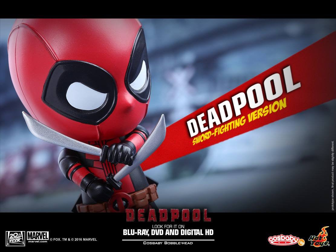Hot Toys - COSB220 - Deadpool (Sword-Fighting Version) Cosbaby Bobble-Head - Marvelous Toys - 4