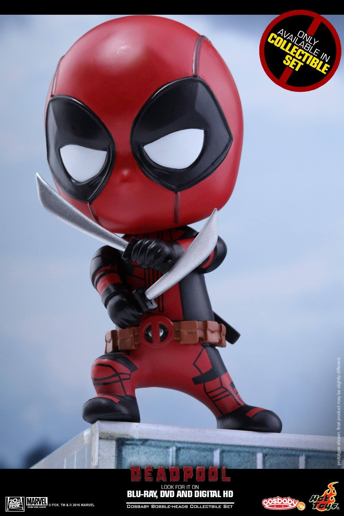 Hot Toys - COSB246 - Deadpool (Surprised, Fighting Pose, Heart Gesturing Versions) Cosbaby Bobble-Head Set - Marvelous Toys - 5