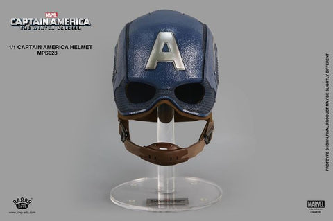 King Arts - MPS028 - Movie Props Series 1:1 - Captain America: The Winter Soldier - Captain America Helmet - Marvelous Toys - 1