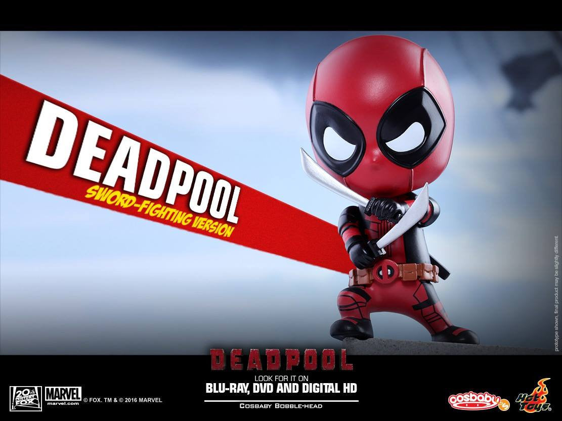 Hot Toys - COSB220 - Deadpool (Sword-Fighting Version) Cosbaby Bobble-Head - Marvelous Toys - 5