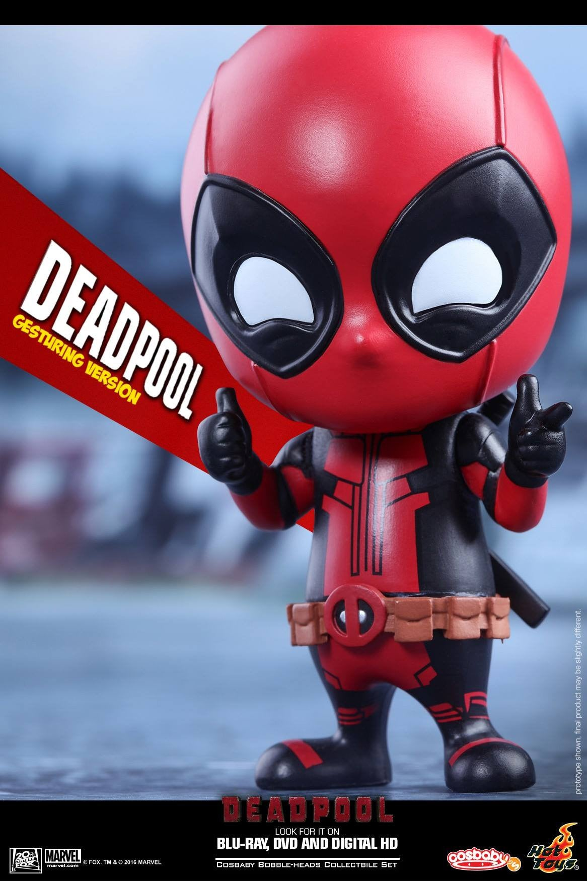 Hot Toys - COSB221 - Deadpool (Gesturing Version) Cosbaby Bobble-Head - Marvelous Toys - 4