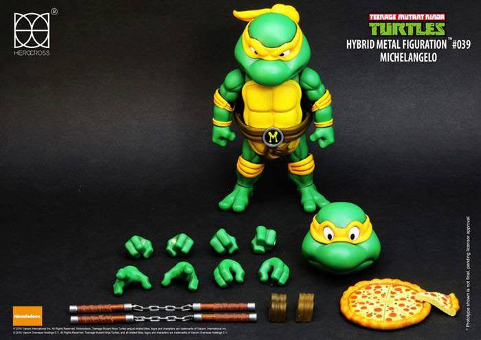 Herocross - Hybrid Metal Figuration - Teenage Mutant Ninja Turtles - Michelangelo - Marvelous Toys - 4