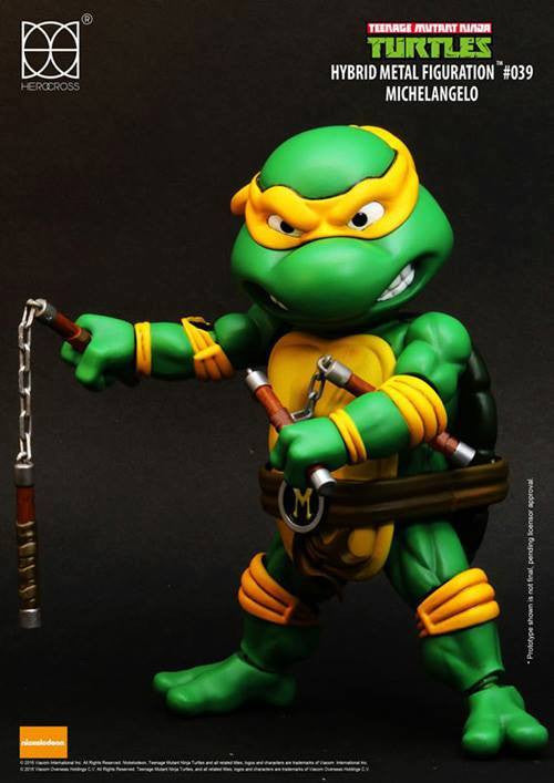 Herocross - Hybrid Metal Figuration - Teenage Mutant Ninja Turtles - Michelangelo - Marvelous Toys - 2