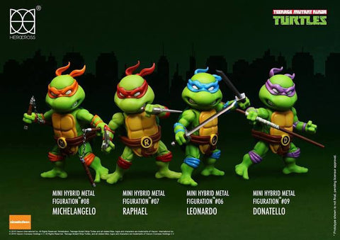 (IN STOCK) Herocross - Mini Hybrid Metal Figuration - Teenage Mutant Ninja Turtles (Set of 4) - Marvelous Toys - 1