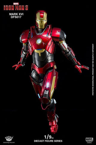 King Arts - DFS017 - Iron Man 3 - 1/9th Scale Iron Man Mark XVI (16) - Marvelous Toys - 1