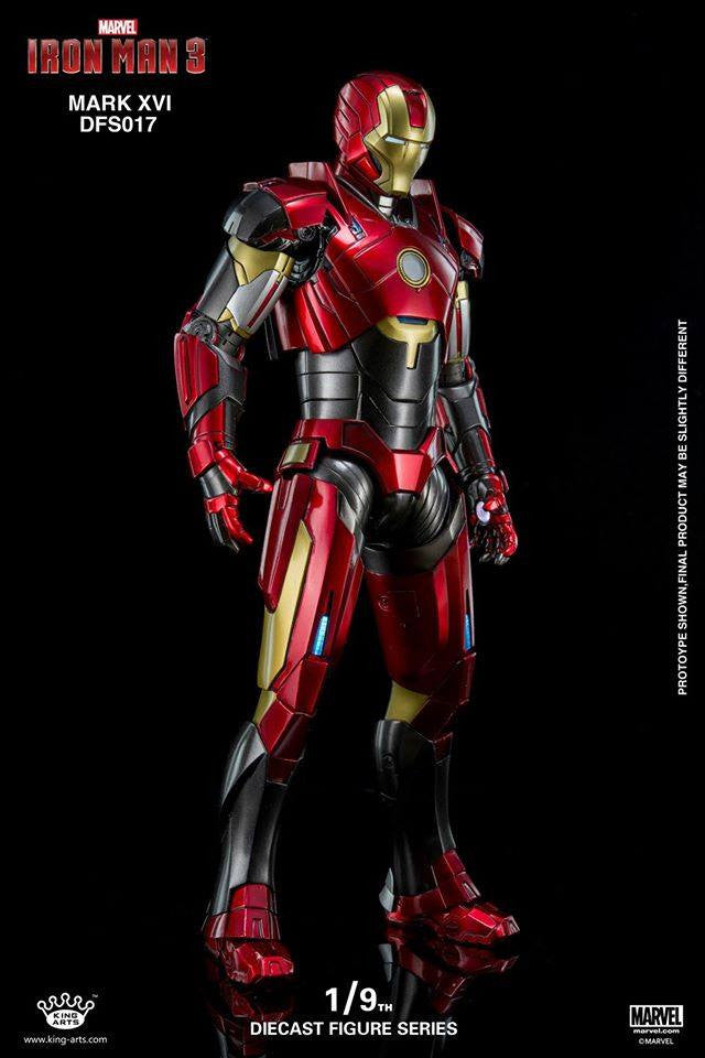King Arts - DFS017 - Iron Man 3 - 1/9th Scale Iron Man Mark XVI (16) - Marvelous Toys - 5