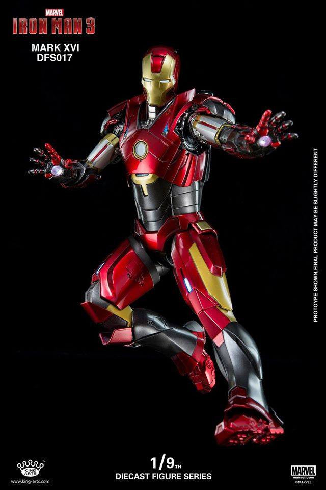 King Arts - DFS017 - Iron Man 3 - 1/9th Scale Iron Man Mark XVI (16) - Marvelous Toys - 7