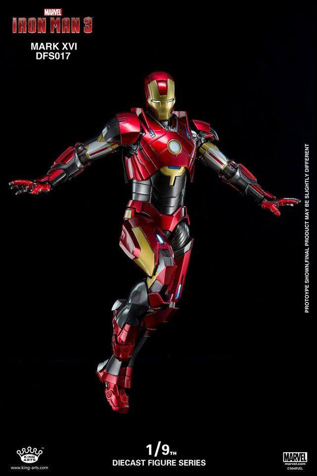 King Arts - DFS017 - Iron Man 3 - 1/9th Scale Iron Man Mark XVI (16) - Marvelous Toys - 8