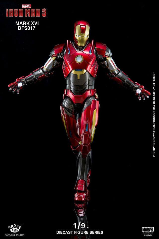 King Arts - DFS017 - Iron Man 3 - 1/9th Scale Iron Man Mark XVI (16) - Marvelous Toys - 9