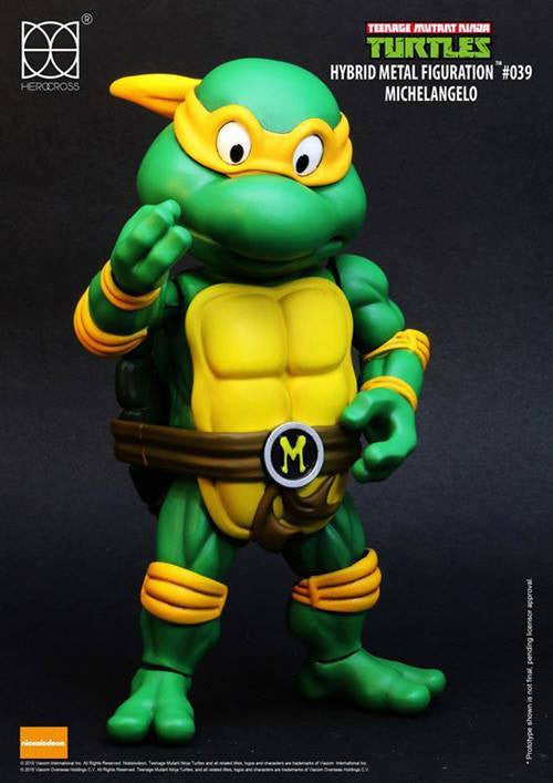 Herocross - Hybrid Metal Figuration - Teenage Mutant Ninja Turtles - Michelangelo - Marvelous Toys - 3