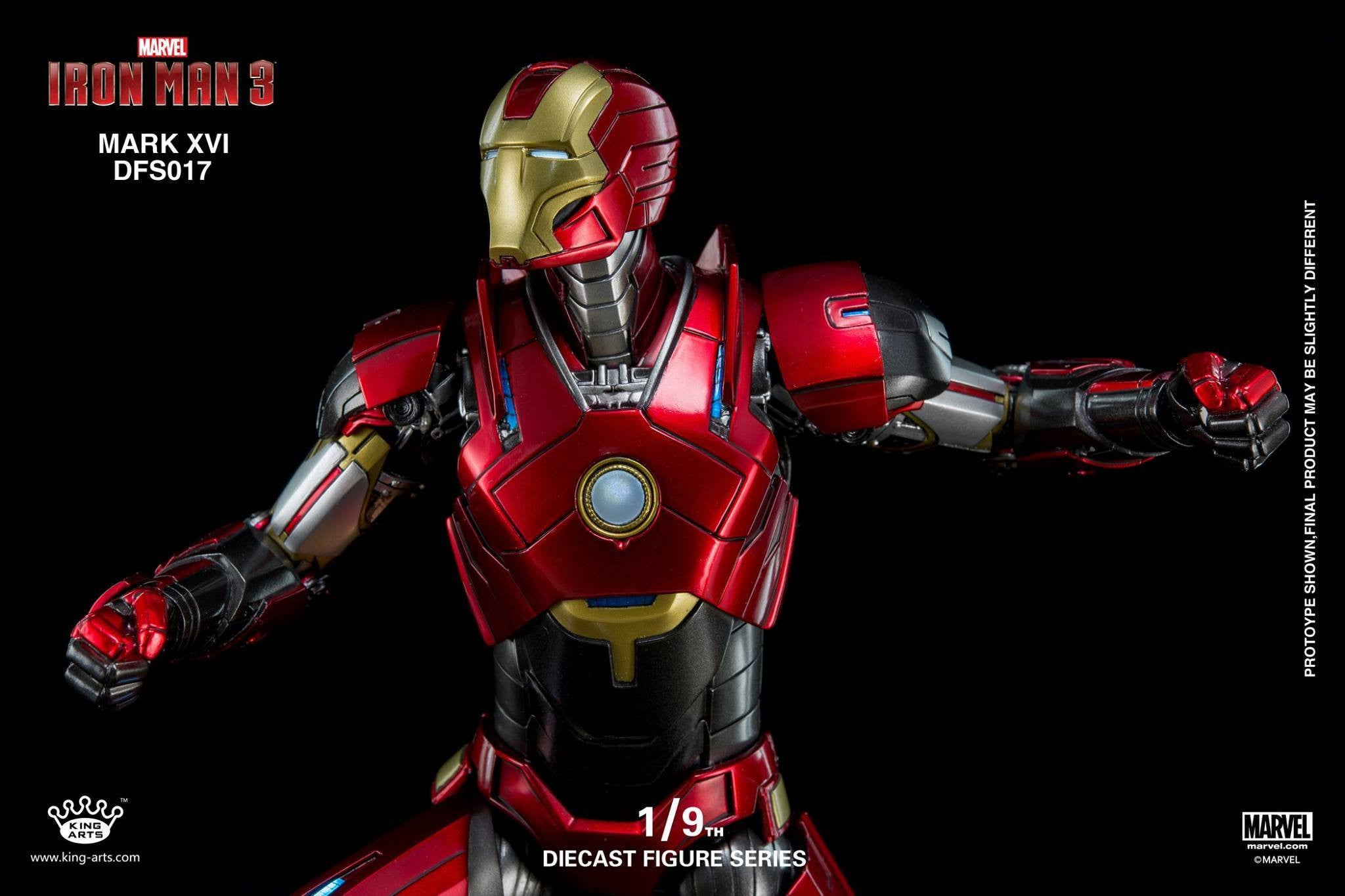 King Arts - DFS017 - Iron Man 3 - 1/9th Scale Iron Man Mark XVI (16) - Marvelous Toys - 10