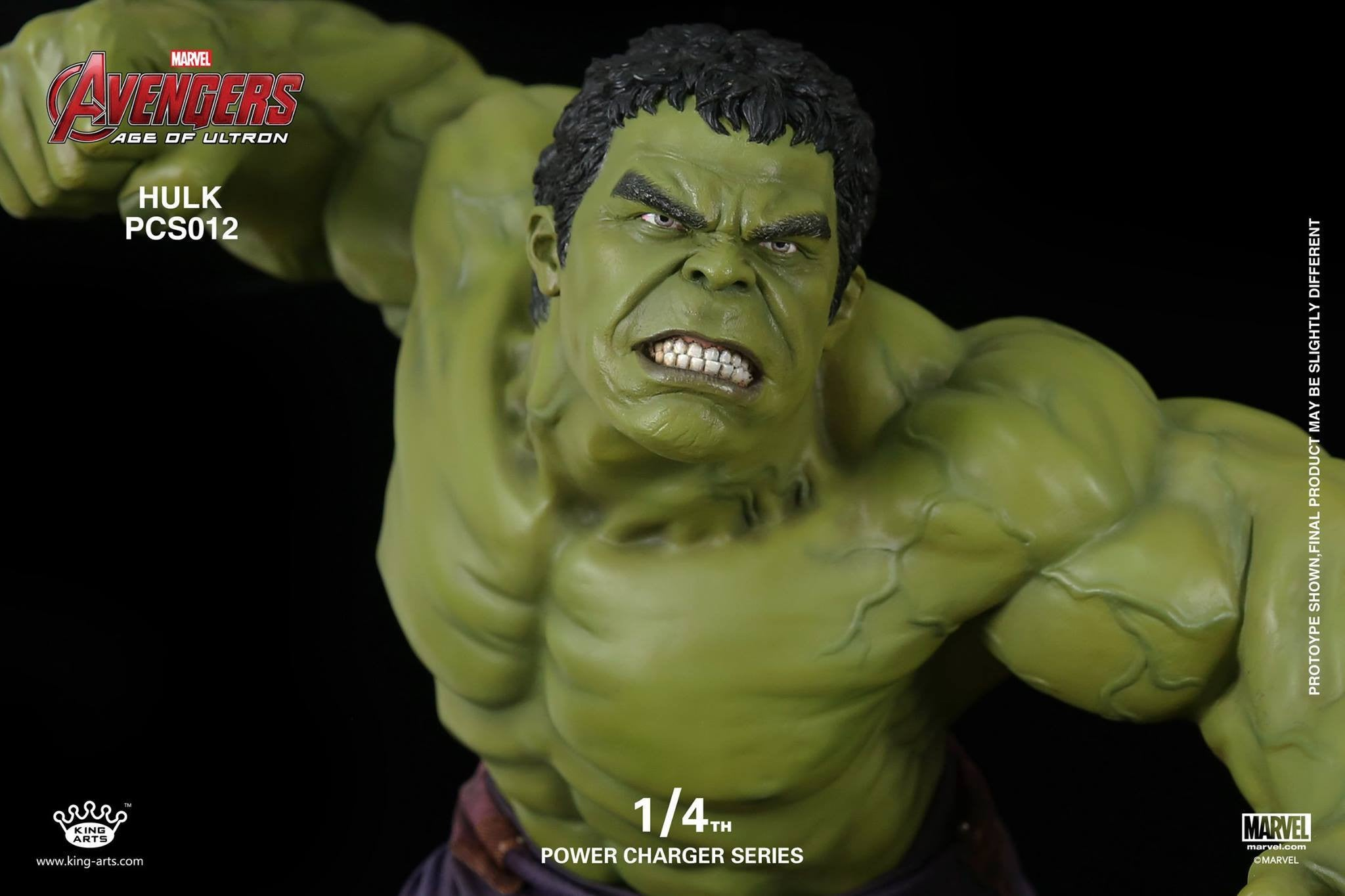 King Arts - Power Charger Series PCS012 - Avengers: Age of Ultron - 1/4th Scale Hulk Charger - Marvelous Toys - 6