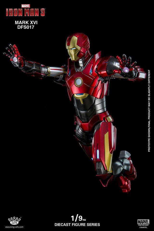 King Arts - DFS017 - Iron Man 3 - 1/9th Scale Iron Man Mark XVI (16) - Marvelous Toys - 11