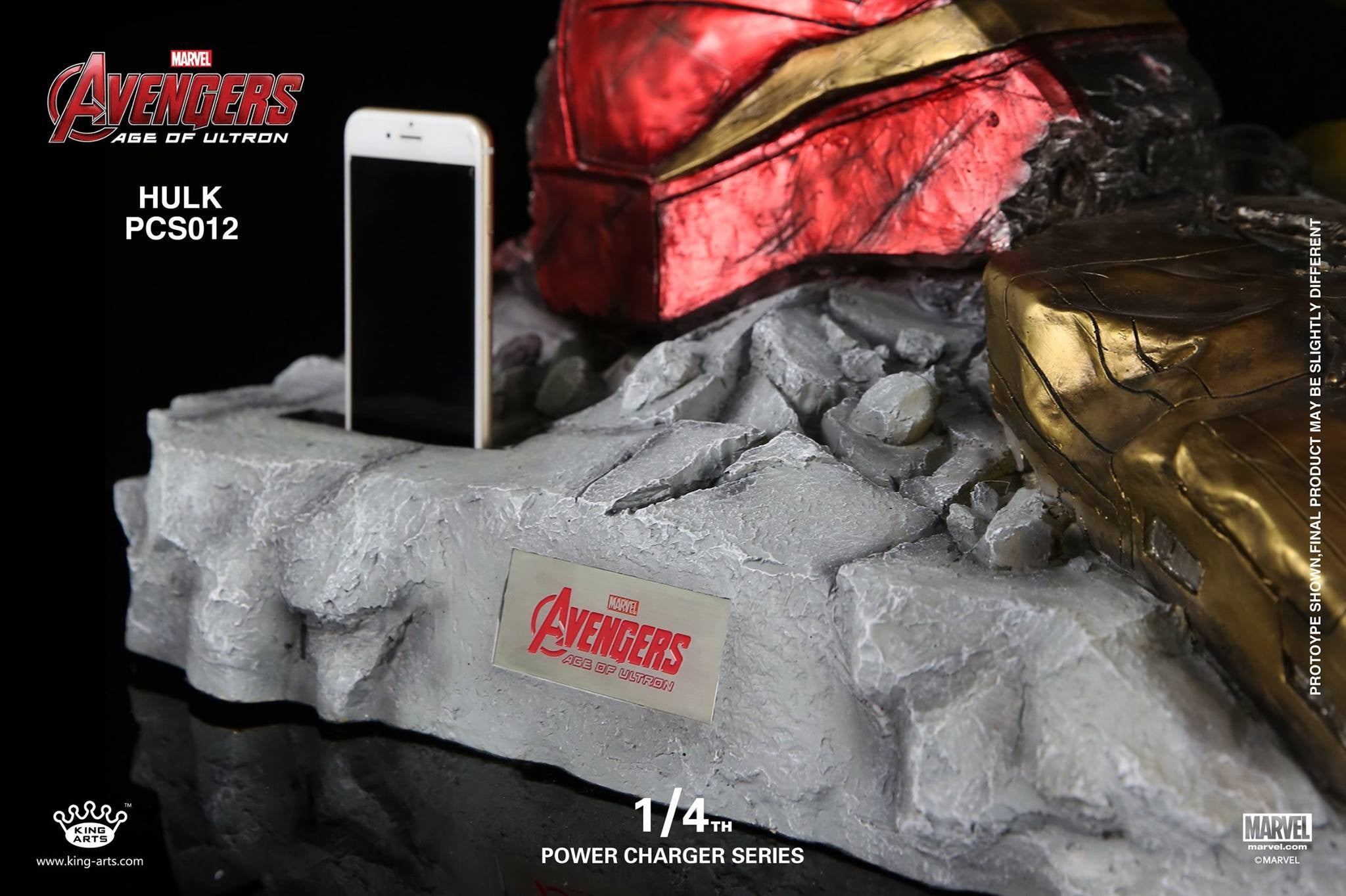 King Arts - Power Charger Series PCS012 - Avengers: Age of Ultron - 1/4th Scale Hulk Charger - Marvelous Toys - 8