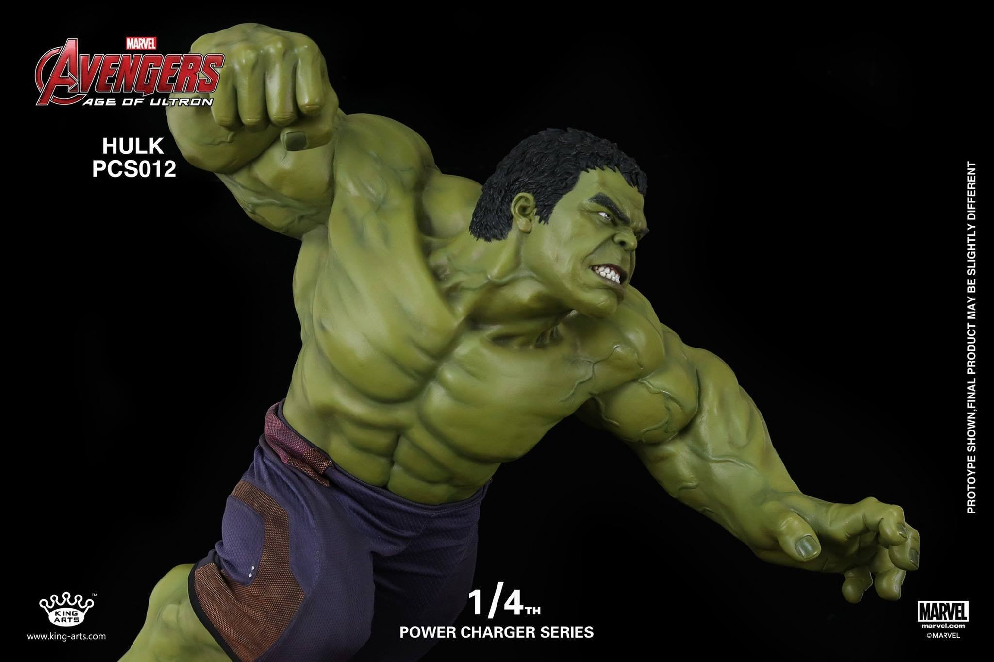 King Arts - Power Charger Series PCS012 - Avengers: Age of Ultron - 1/4th Scale Hulk Charger - Marvelous Toys - 3