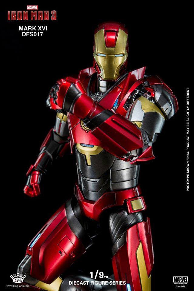 King Arts - DFS017 - Iron Man 3 - 1/9th Scale Iron Man Mark XVI (16) - Marvelous Toys - 12
