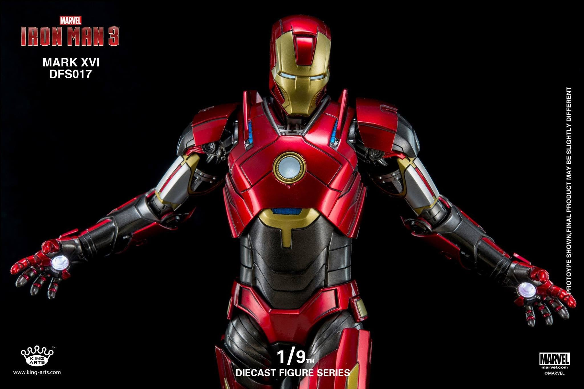 King Arts - DFS017 - Iron Man 3 - 1/9th Scale Iron Man Mark XVI (16) - Marvelous Toys - 14