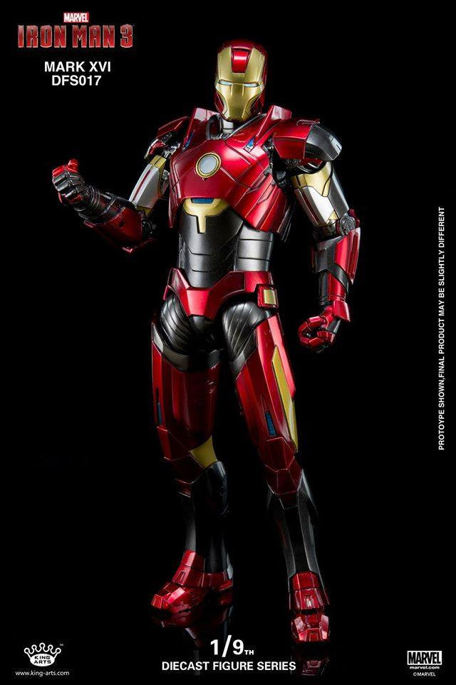 King Arts - DFS017 - Iron Man 3 - 1/9th Scale Iron Man Mark XVI (16) - Marvelous Toys - 15
