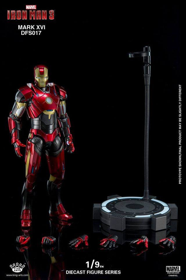 King Arts - DFS017 - Iron Man 3 - 1/9th Scale Iron Man Mark XVI (16) - Marvelous Toys - 17