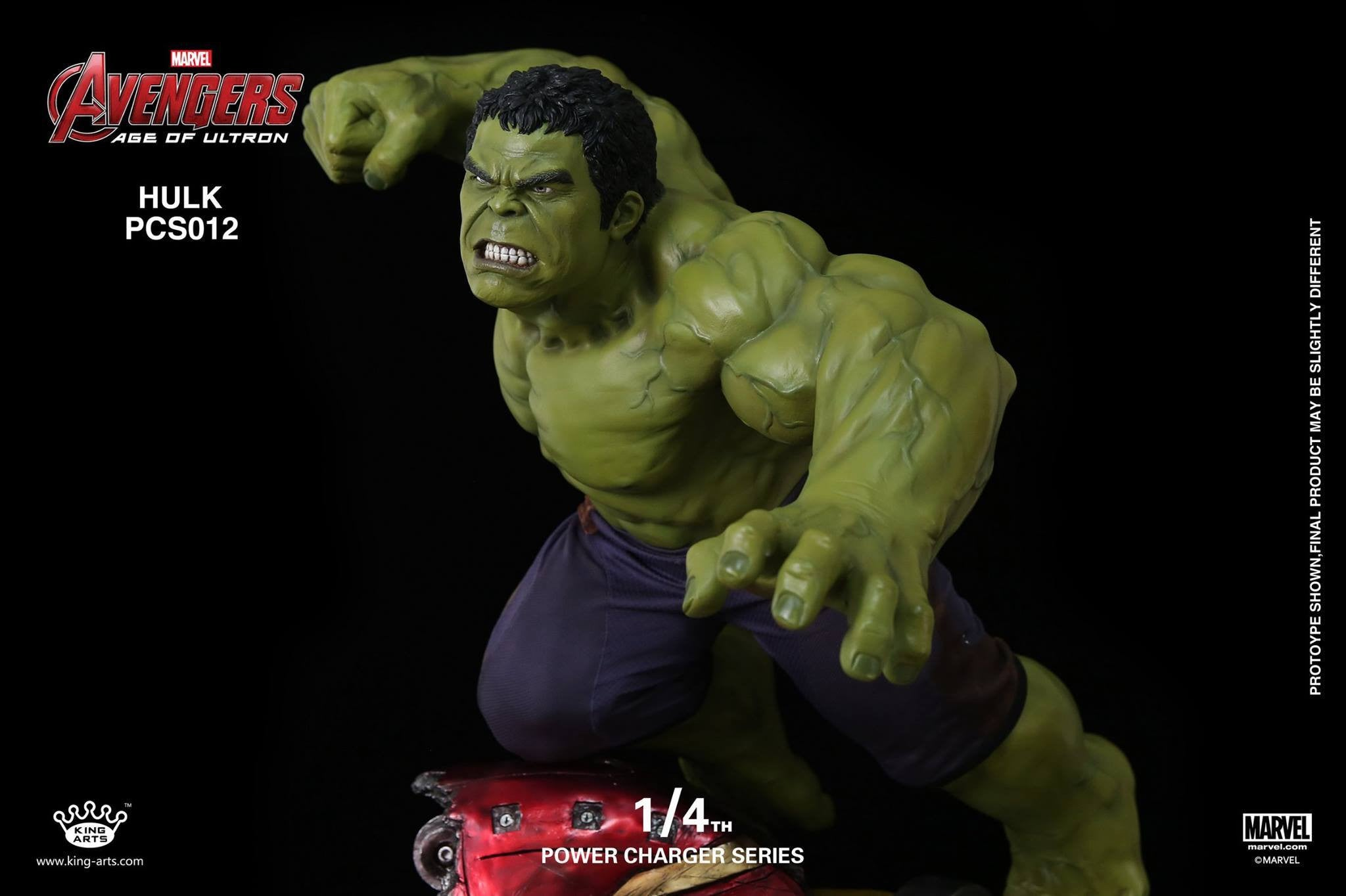 King Arts - Power Charger Series PCS012 - Avengers: Age of Ultron - 1/4th Scale Hulk Charger - Marvelous Toys - 5