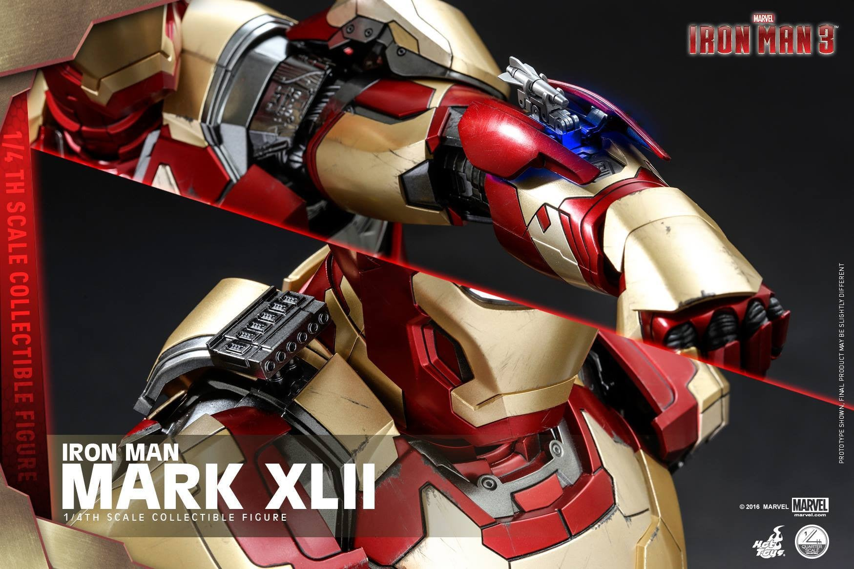 Hot Toys - QS007 - Iron Man 3 - 1/4th scale Mark XLII - Marvelous Toys - 2
