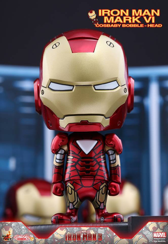 (IN STOCK) Hot Toys – COSB266 – Iron Man 3 - Iron Man Mark VI Cosbaby Bobble-Head - Marvelous Toys - 1