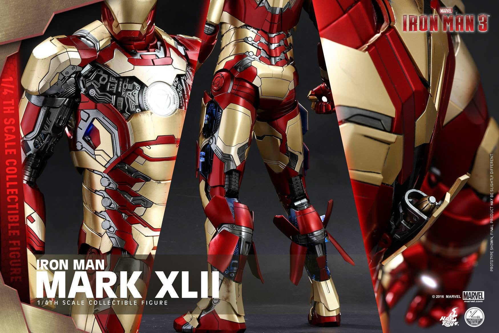 Hot Toys - QS007 - Iron Man 3 - 1/4th scale Mark XLII - Marvelous Toys - 5