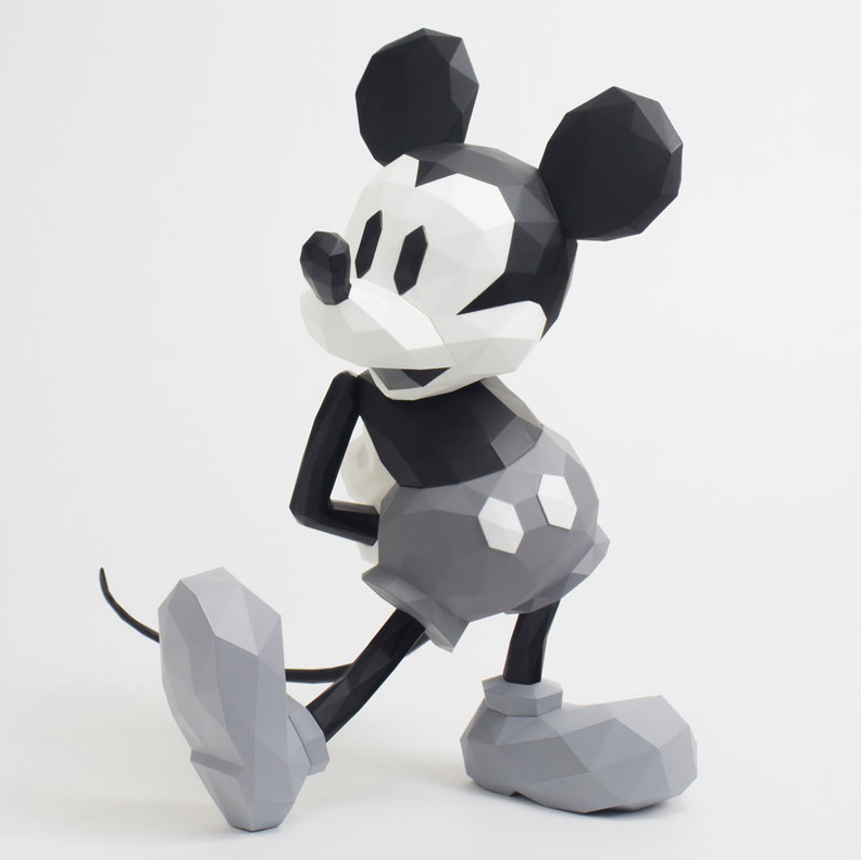 Sentinel - POLYGO Mickey Mouse Grey (Japan Version) - Marvelous Toys - 3