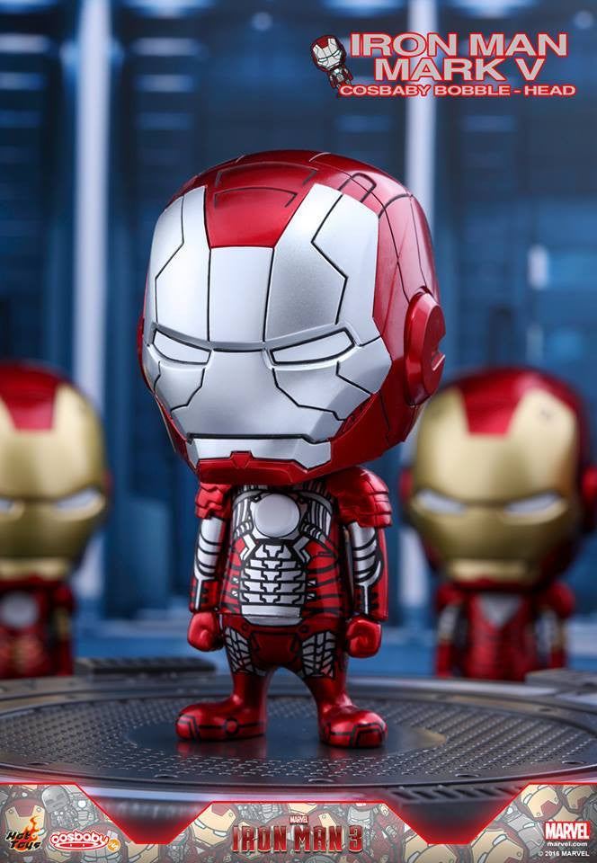 (IN STOCK) Hot Toys – COSB265 – Iron Man 3 - Iron Man Mark V Cosbaby Bobble-Head - Marvelous Toys - 1